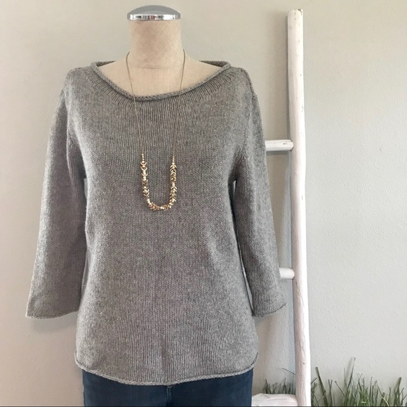 Eileen Fisher Sweaters - Eileen Fisher | Gray Yak Merino Wool Cozy Sweater
